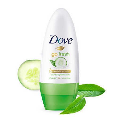 Ảnh của Lăn Khử Mùi Dove Go Fresh Dưỡng Da Sáng Mịn Hương Dưa Leo & Trà Xanh 40 ml