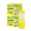Ảnh của Combo 2 Hộp Trà Lipton Ice teavị chanh mật ong 14g x 16 gói & 1 bình thủy tinh cao cấp